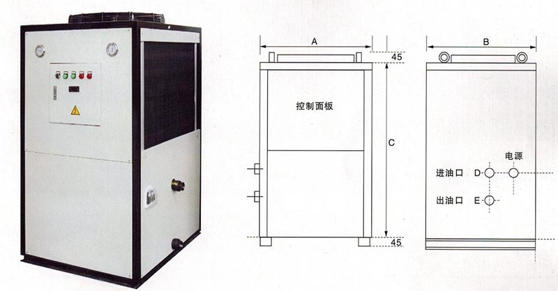 油冷机外形尺寸图