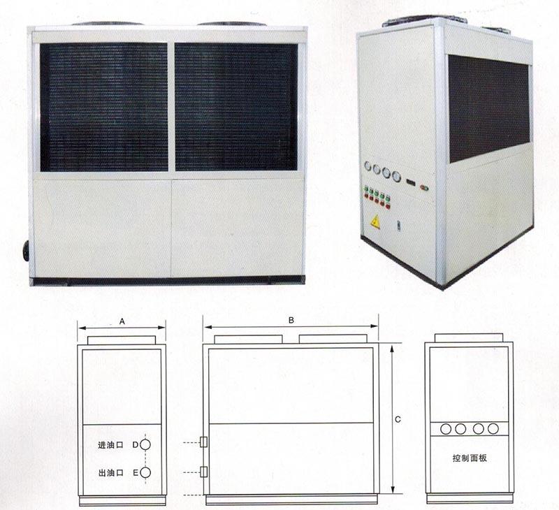 LYD500-1200油冷机的外形尺寸图